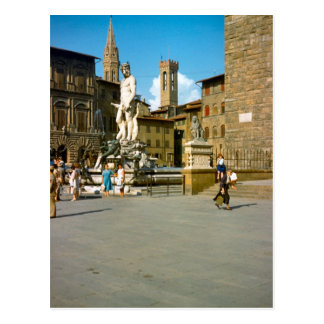 Carte Postale Firenze, statue de David par Michaël Angelo