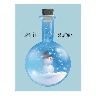 Carte Postale Flacon de Snowglobe