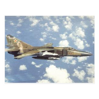 Carte Postale Flagellateur MiG-23 soviétique