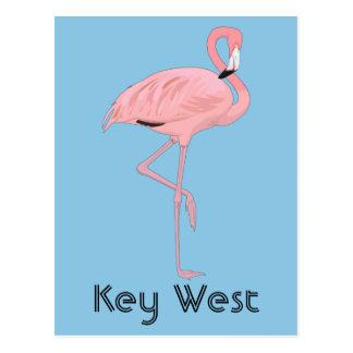 Carte Postale Flamant rose de Key West la Floride