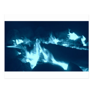 Carte Postale Flamme bleue