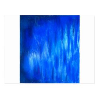 Carte Postale Flamme bleue en pastel (expressionisme abstrait)