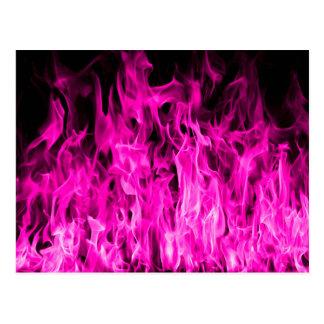 Carte Postale Flamme violette et produits et habillement de feu