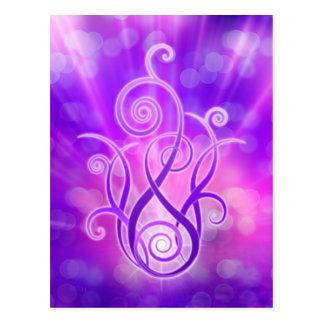 Carte Postale Flamme violette/feu violet