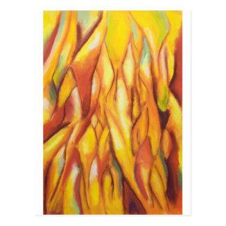 Carte Postale Flammes inclinées (expressionisme abstrait)