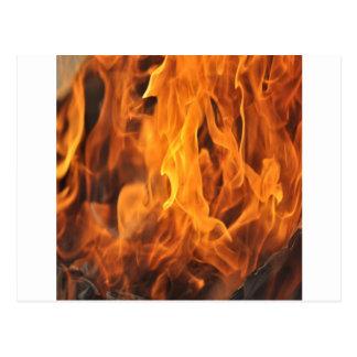 Carte Postale Flammes - trop chaudes à manipuler