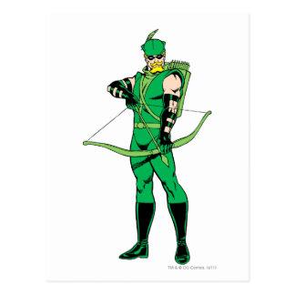 Carte Postale Flèche verte se tenant avec l'arc