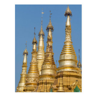 Carte Postale Flèches de pagoda de Shwedagon