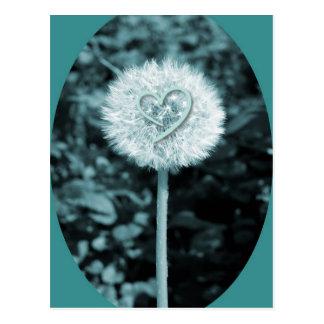 Carte Postale Fleur de coeur de blume de Herz