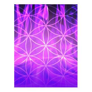 Carte Postale Fleur de flamme violette de la vie