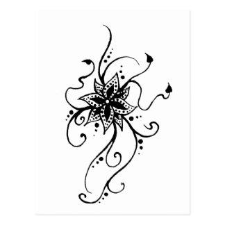 Carte Postale Fleur de henné dans les vignes