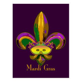 Carte Postale Fleur de lis Mask