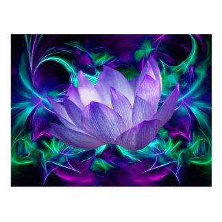 Carte Postale Fleur de lotus pourpre et sa signification