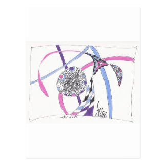 Carte Postale fleur d'embrouillement