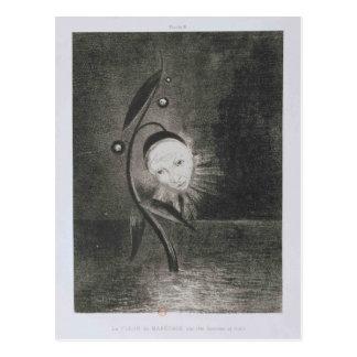 Carte Postale Fleur d'Odilon Redon- du marais, un humain de tête
