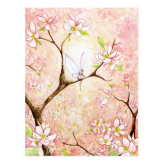 Carte Postale Fleur rose de vue