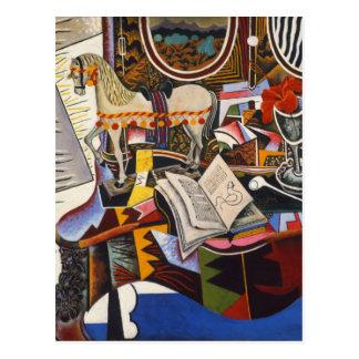Carte Postale Fleur rouge de tuyau de cheval par Joan Miro
