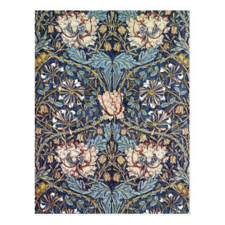 Carte Postale Fleur William Morris de chèvrefeuille