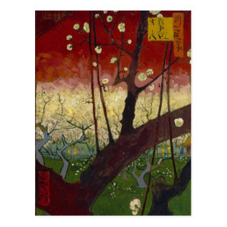 Carte postale fleurissante de prunier