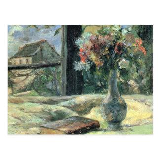 Carte Postale Fleurissez dans le vase à la fenêtre - Paul
