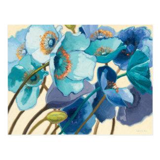 Carte Postale Fleurs dans différentes nuances de pourpre et de