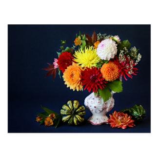 Carte Postale Fleurs d'automne