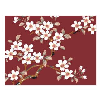 Carte Postale Fleurs de cerisier japonaises