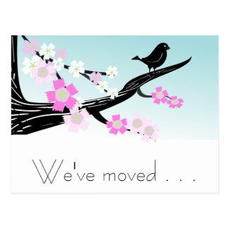 Carte Postale Fleurs de cerisier personnalisables d'oiseau de