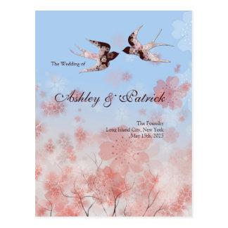 Carte Postale Fleurs de cerisier Sakura et programme