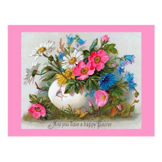 Carte Postale Fleurs de cru de bouquet de Pâques