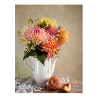 Carte Postale Fleurs de dahlia