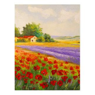 Carte Postale Fleurs de la Provence