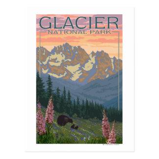 Carte Postale Fleurs de ressort - parc national de glacier, la