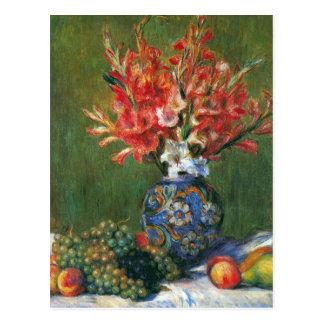 Carte Postale Fleurs et fruit toujours de la vie par Pierre