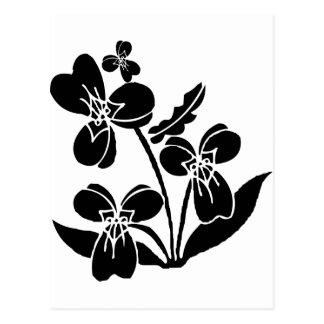Carte Postale Fleurs noires