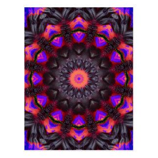Carte Postale Fleurs surréalistes, mandala de fleur