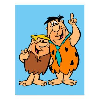 Carte Postale Flintstone de blocaille et de Fred de prise de bec