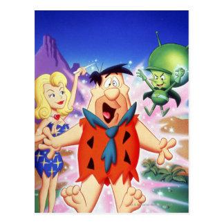 Carte Postale Flintstone de Fred sous un charme