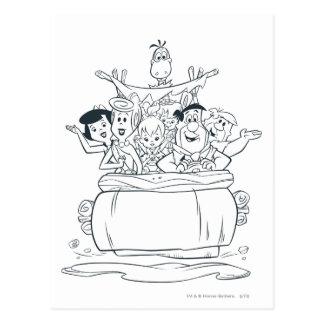 Carte Postale Flintstones Families1