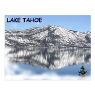 Carte Postale Flocon de neige 1 du lac Tahoe