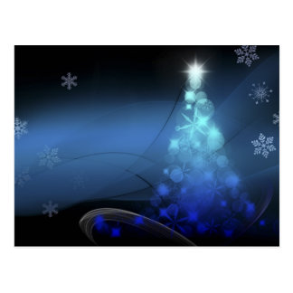 Carte Postale Flocons de neige de vacances de Noël bleus