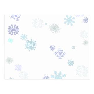 Carte Postale Flocons de neige pâles