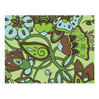 Carte Postale Floral vert de menthe