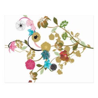 Carte postale florale