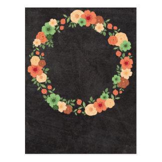 Carte postale florale de guirlande de tableau