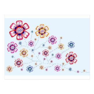 Carte postale florale de plaisir