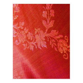 Carte postale florale rouge de l'élégance I - pers