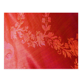 Carte postale florale rouge d'élégance - personnal