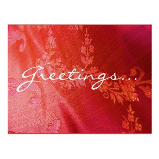 Carte postale florale rouge - personnalisable