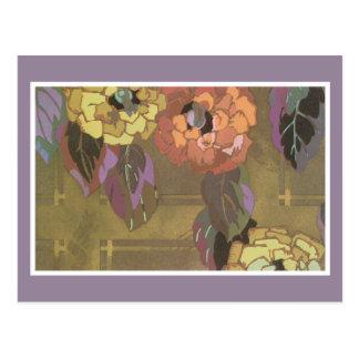 Carte postale florale vintage